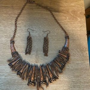 NWT Statement necklace and earrings